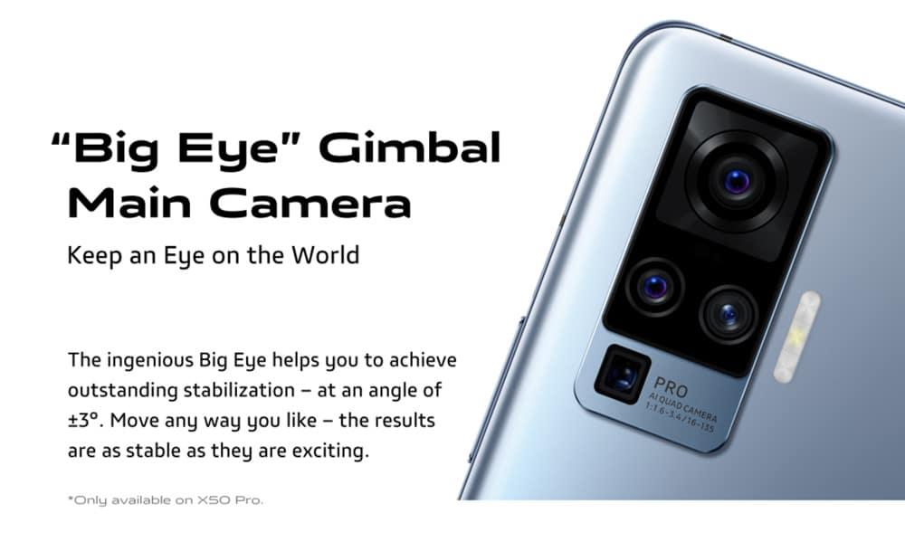 The Gimbal Main Camera on vivo X50 Pro