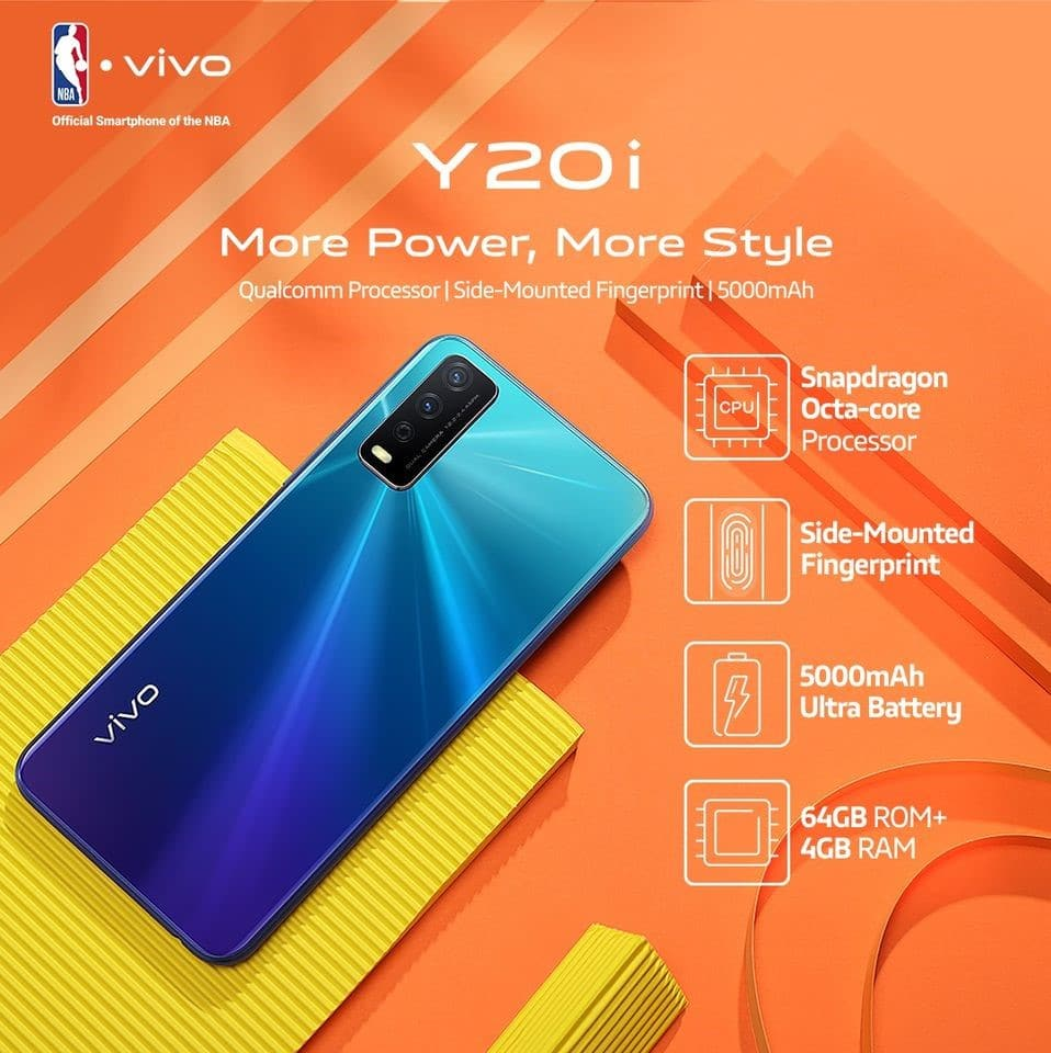 vivo y20i features
