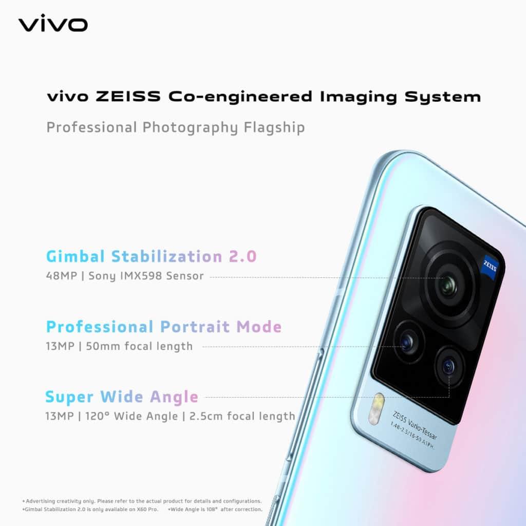 ZEISS-branded camera system Smartphone vivo X60